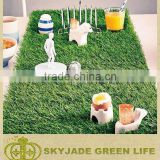 Natuarl looking and feeling artificial turf for home decor