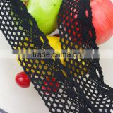 5.5cm Garment accessories ribbon high quality cheap lovely white cotton voile black lace trimming c550201