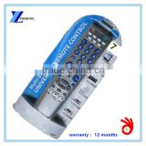 43 keys 43 buttons silver color 7 in 1 universal remote control with blister pack RM-700 for mexico market
