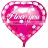 i love you pink heart balloon 18""