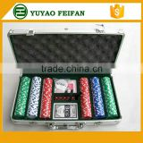 Used poker chips set for sale 300pcs Casino Style 13.5g Poker Chip Set With Alu Case/Casino Poker Set