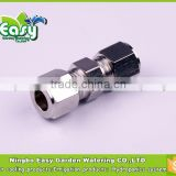 3/8'' Stainless steel OD coupling connector. Pipe joint for mist cooling system. Ideal for 9.5MM outter dia tubing