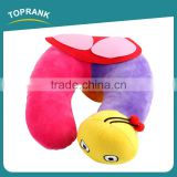 Toprank Custom Cute Animal Shape Snail Short Plush Pillow PP Foam U Shape Folding Airplane Travel Neck Pillow