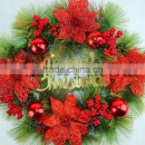 2015 fashionalbe Christmas wreath with good quality and competitive