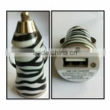 Leopard Print USB Car Charger for iPhone and Samsung