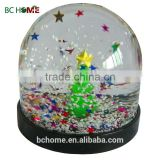 Resin & plastic glass snow globe christmas ornament crafts Christmas present for kid's gifts, christmas souvenir water globe