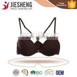 sexy open bra ,front closure bra,brown front closure bra with metal snap(Accept OEM)