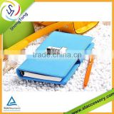 2015 new style business leather notebook /diary notebook customization