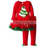 Newborn Christmas ruffle tutu dress with pants sizes newborn 8T baby clothes suits