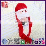 Chinese factory hot selling new design lovely decorated custom santa claus hat for children