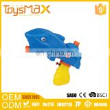Popular toys 2016 yellow and blue plastic funny kid's shark shape water gun for water park with certificates
