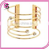 New fashion girl's cuff alloy bracelet with rhinestone
