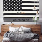 American Flag Tapestry Twin Christmas Gift USA flag Black and White hippie Mandala Dorm decor Wall Hanging Art Decor Hippie