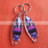 Customized Logo Printed Promotional square Acrylic Keychain ,Photo Frame Keyring /Plastic Keychain