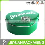 Heart shaped wedding candy packaging metal tin box for chocolate