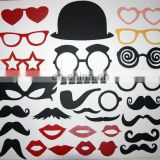 29pc Mustache Photo Booth Props Fun for Wedding Parties Birthday Xmas