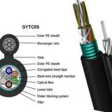 Outdoor GYTC8S Self Figure 8  24 Core aerial and underground water blocking armored Fiber optic cable