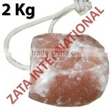 Himalayan Natural Rock Salt Licks Licking Feed Mineral Stone 2 Kg for Livestock Cattle Horse Camel Cow Sheep