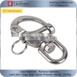 304 Stainless Steel Snap Shackle with Small Swivel Bail Marine Boat Hardware