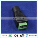5.5mm x 2.1mm DC Power Female Jack to 2 Conductor Screw Down Connector for LED Light Controller