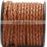 Braided Leather Cord For Jewellry Bolo Cord