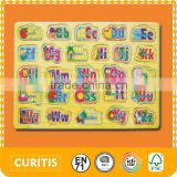 Pollution-free Cartoon Puzzle Colorful Letter Toys Learning Letters Sets Puzzle For Children