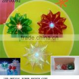 "4""star bow iridescent star ribbon bow with fiber optic LED lights Hot Sale in Canada"