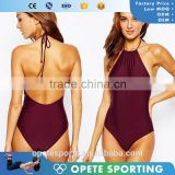 (OEM ODM FACTORY)Wholesale High Quality Cheap Pretty Sexy One Piece Monokini Swimsuits For Women