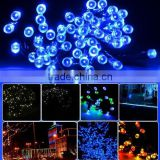Hot Selling 22m 200 LED Solar Garden Decoration Light for Outdoor, Gardens, Homes, Christmas Party Blue