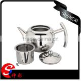 stainless steel tea pot coffee pot with strainer