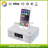 FM radio Alarm clock Dock charging Station bluetooth Speaker for iPhone and Samsung all smartphones