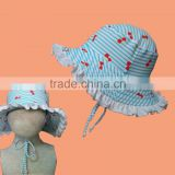 kids swimwear bucket hat 2-8Y swimming cap stock swimwear
