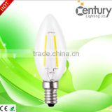Hot decoration LED candle light dimmable 4w e12 e14 220v led filament bulbs 2w led candle lights