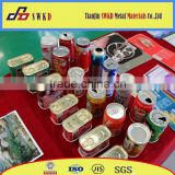 Empty metal tin can with printing for food/olive oll/coffee/tea/candy