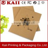 wholesale factory of kraft paper blank notebook, high quality kraft paper blank notebook made in China