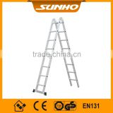 5m price en 1313 aluminum Extension Ladder made in China