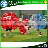 Good quality half red TPU inflatable giant balloon ball,bubble soccer ball for sale