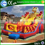 Cartoon inflatable dragon city playground slide inflatable zenith dragon for kids