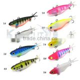 Kmucutie CS002 Soft VIBE Lure Made of TPR Fishing Bait/manufacture made lures