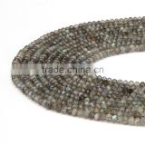 Hot Selling Faceted Rondelle Labradorite Gemstone Beads