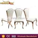 Arab rose gold stainless steel banquet chair wedding dining chair wholesale