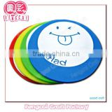 Custom wooden printed smile colorful cup mat coaster (Wooden craft/ wood gift/wood art in laser Cut & Engraving)