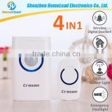 Top Quality 4 In 1 Multi-Function Battery Type Remote Control Smart Burglar Alarm System Doorbell With 2 Receivers                                                                         Quality Choice