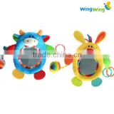 wholesale cute soft baby mirror rattle toy