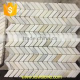 China white stone mosaic tiles cheap marble mosaic for walls