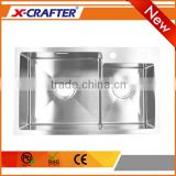 Wholesale high quality pro cnc welding process double bowl design kitchen sinks with 4mm thickness