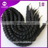 ( Black Color 1# ) STOCK 18inch 100grams Synthetic afro 2X twists havana mambo hair jumbo braiding hair extensions