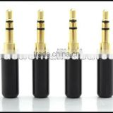 Audio Gade OEM Hi End Gold Plated 3.5-B Gold plated 3.5MM Male headphone Terminal Black