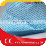 Non Woven Fabric Of Good Quality, Blue Color Cotton Fiber Material Non Woven Mesh Spunlace Fabric