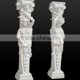 Woman stone terrace railing designs marble baluster hand carved stone sculpture